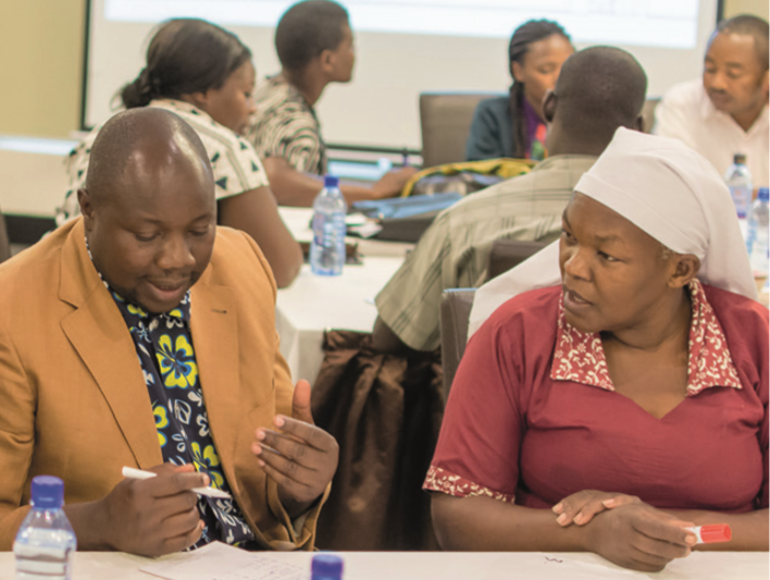 © Education Development Trust. System leaders in Nairobi, Kenya, taking part in Education Development Trust's leadership development programme