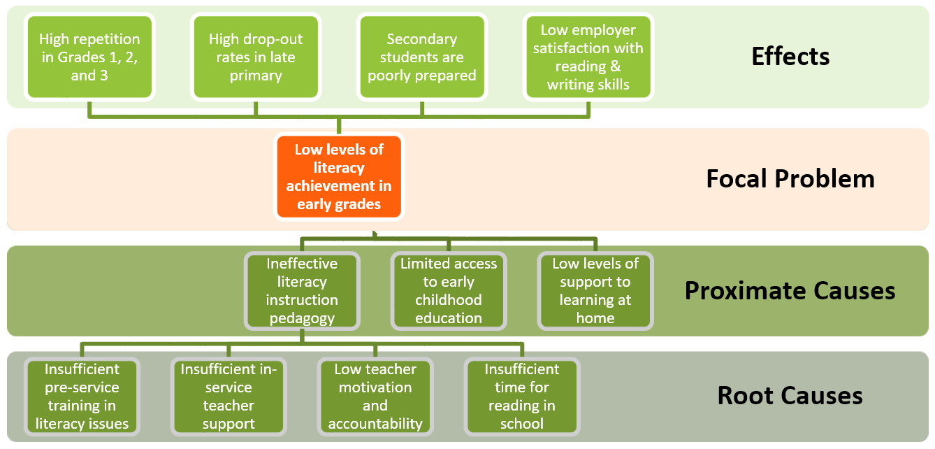 Low early grade literacy problem tree