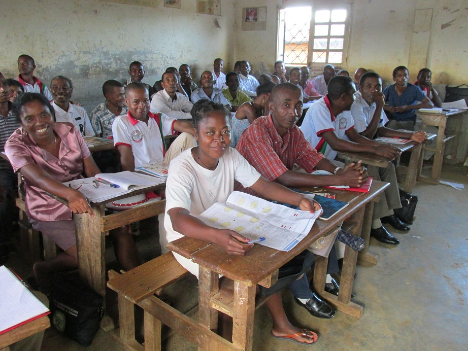 © UNICEF/Madagascar/2018/Ralaivao. Training on the school profiles for the school directors of the district of Vavatenina, Madagascar